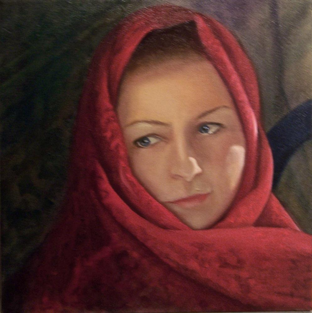 RedScarf   JanineKiltyArtworks