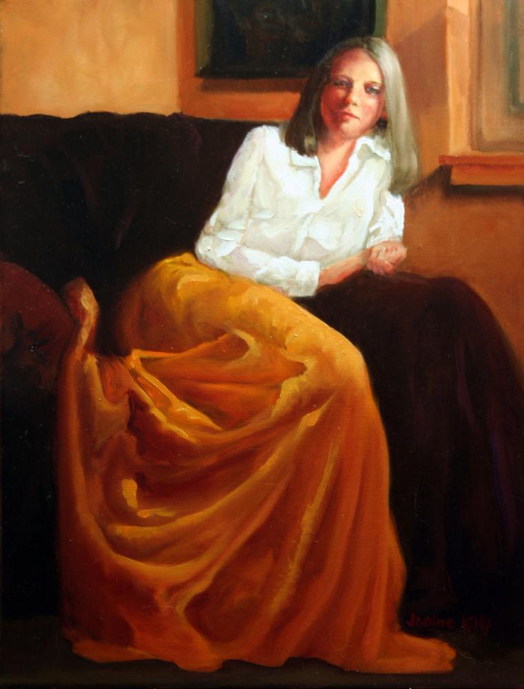 Gold Skirt | JanineKiltyArtworks