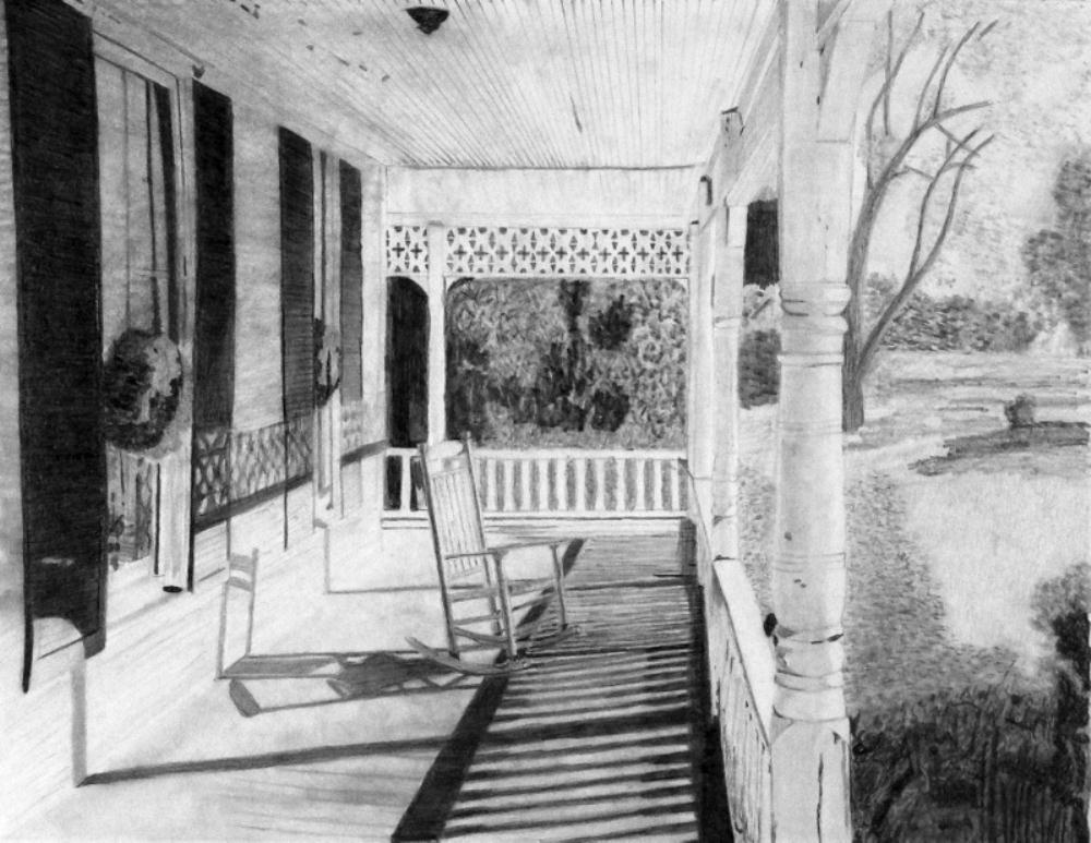 Grandma's Porch...Grandda...   TIM GOSS RURAL TEXAS ART
