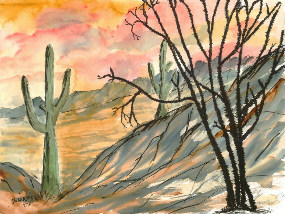 arizonaeveningposter2 | Art Prints by McCrea