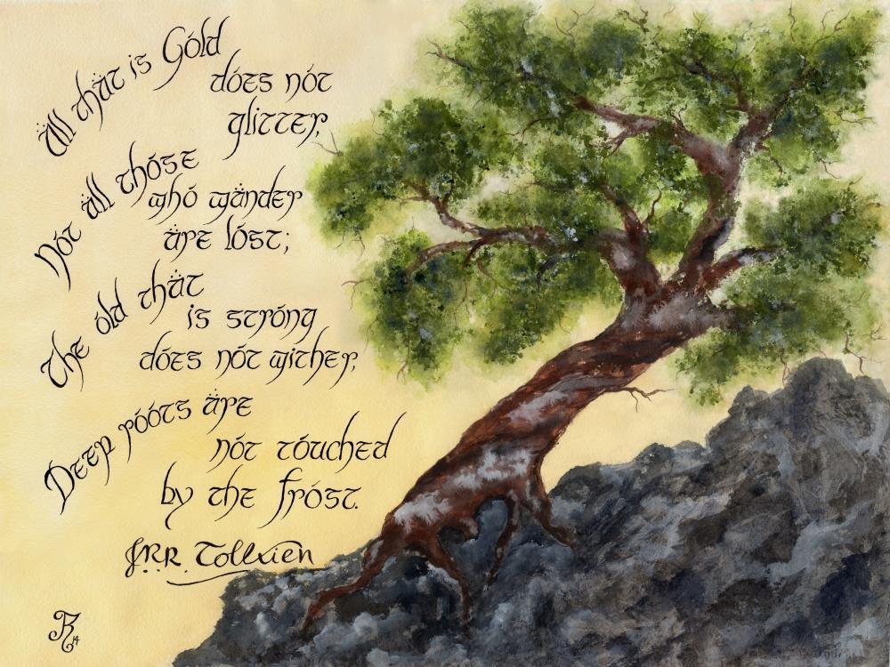 18x24 Tolkien Tree |