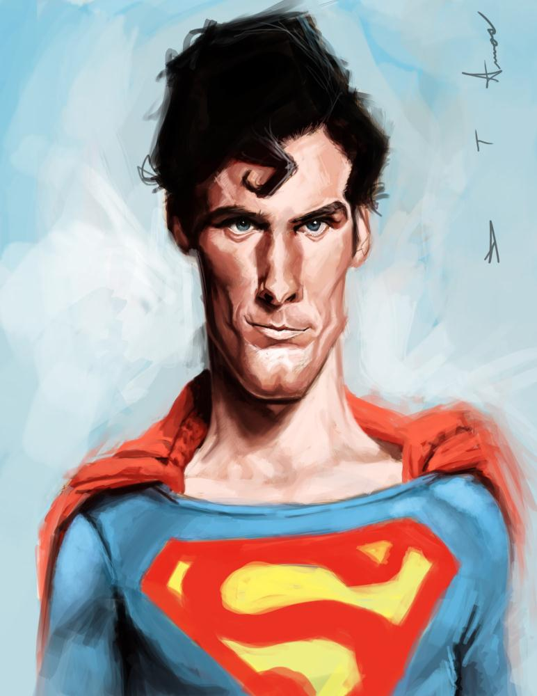 Christopher Reeves - Supe... | Devonne Amos illustration...