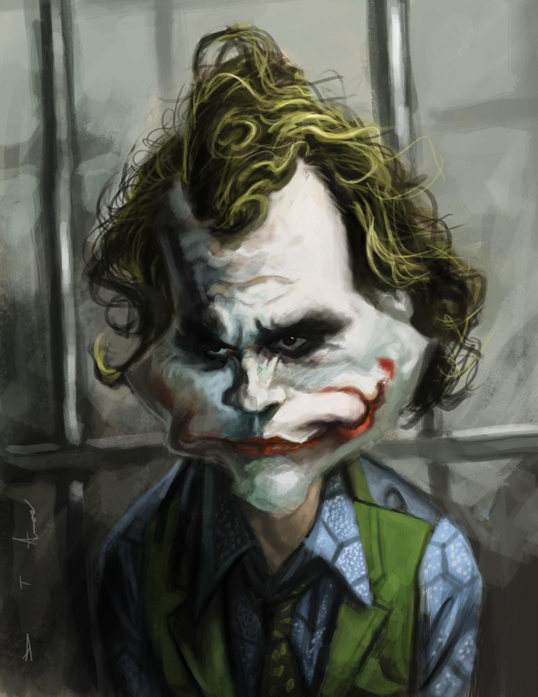 Heath Ledger - The Joker | Devonne Amos illustration...