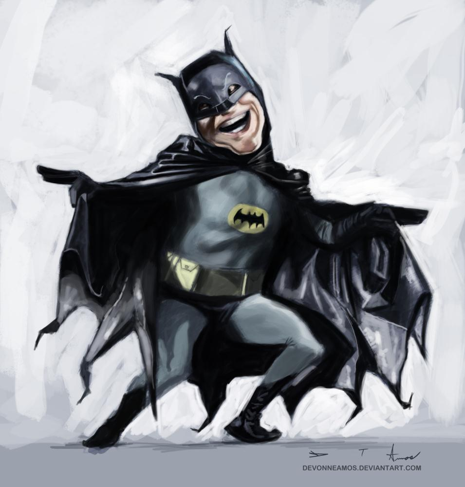 Adam West - Batman | Devonne Amos illustration...