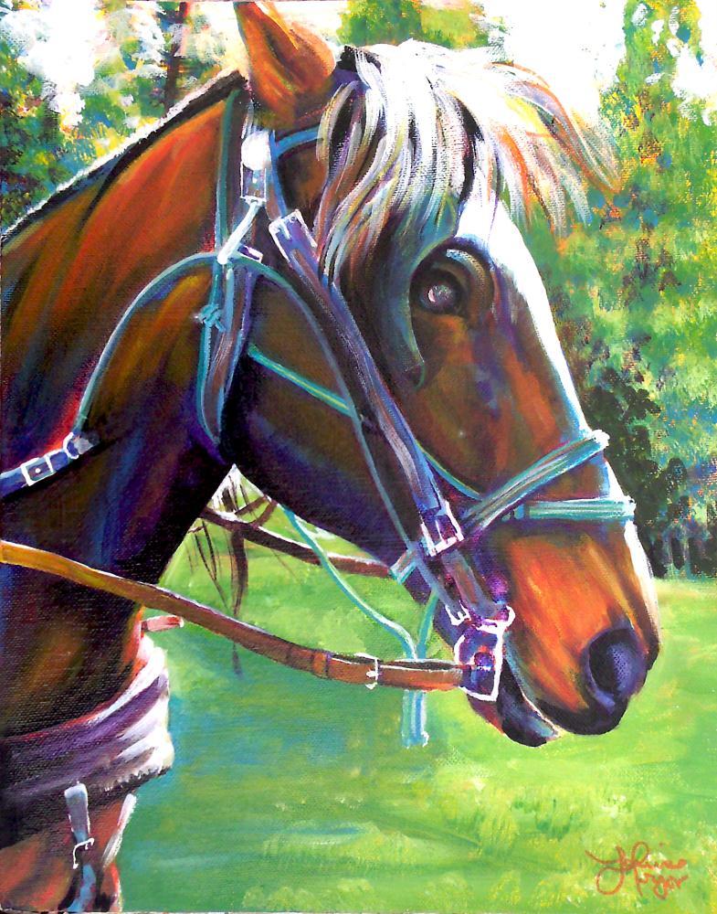 horse2   Original Art by Louise Pr...