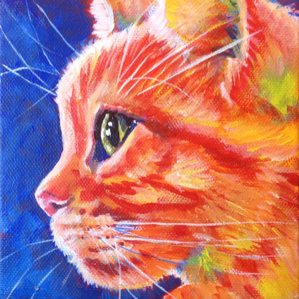 cat | Original Art by Louise Pr...
