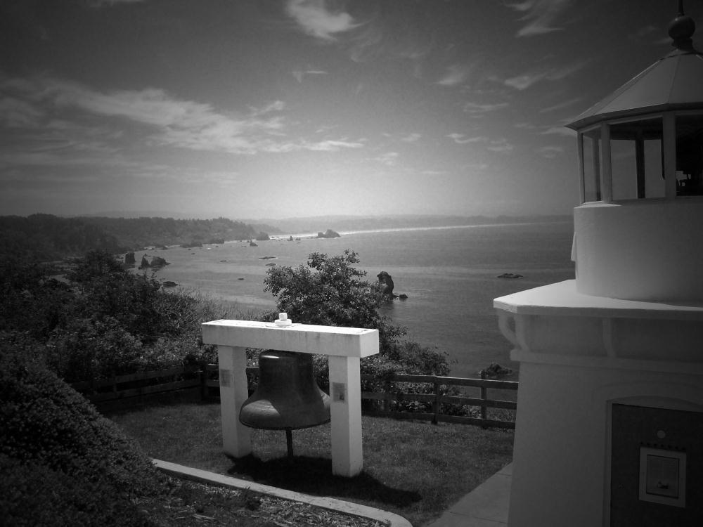 Trinidad Lighthouse BW   Photos by Pinta