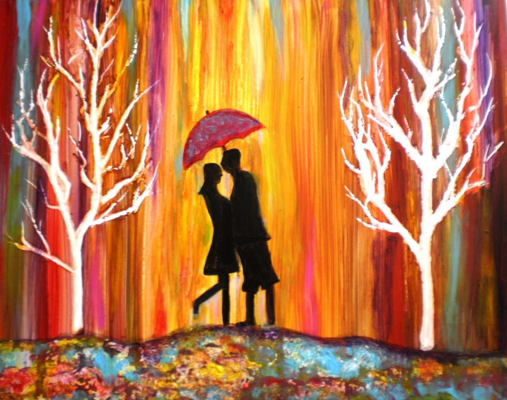 Romance in the Rain | artbymanjiri