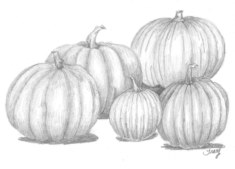 pumpkingroupingcloseup | Tracy's Artwork