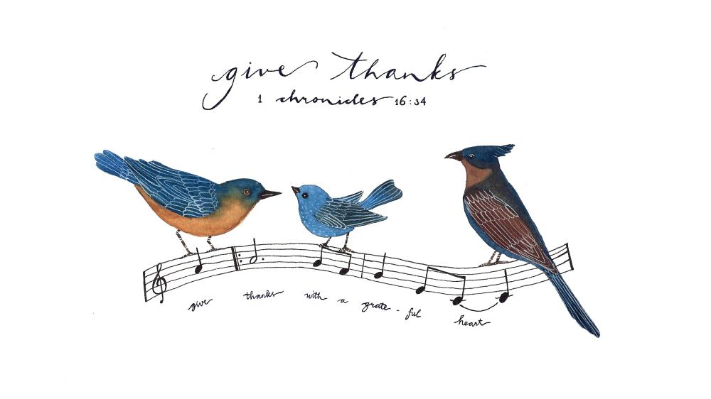 give thanks | Little Squirrel Art
