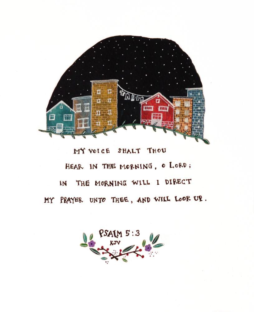 psalm 5:3 | Little Squirrel Art