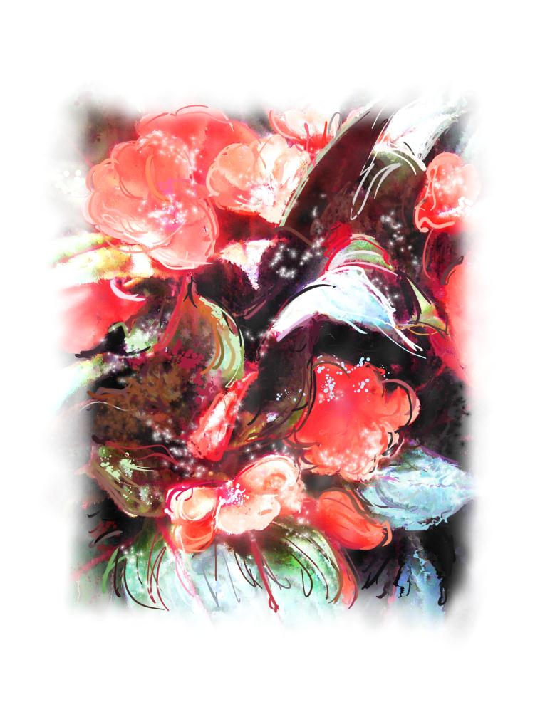 IMPATIENS BLOOMS | Painted Expressions by Ni...