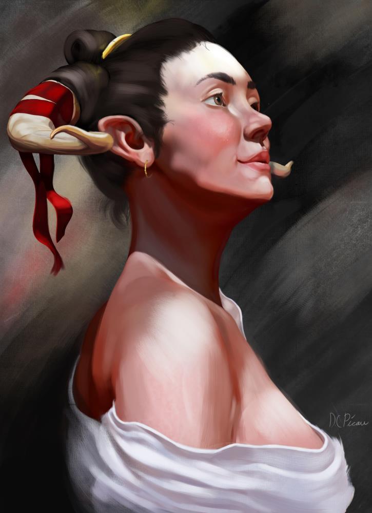 Lucyfer | Daniel Charles Picou Art