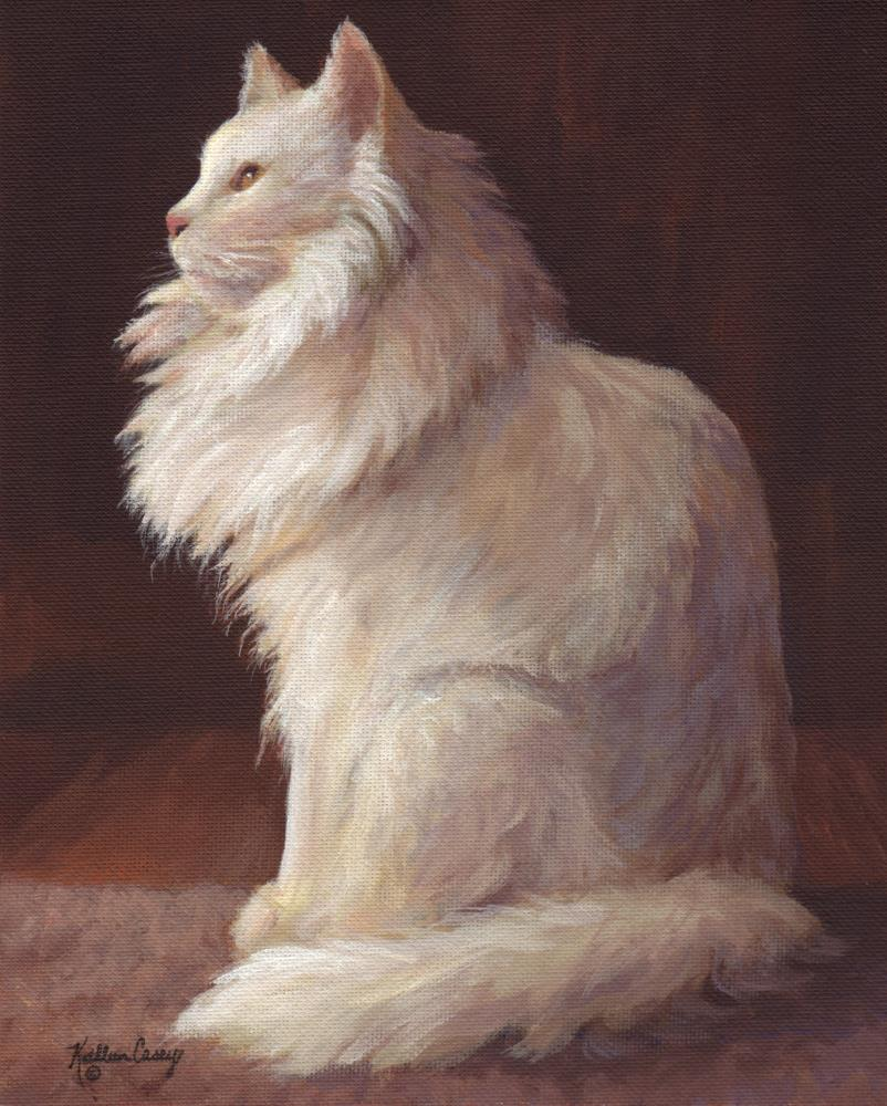 """White Cat """"Snowflake"""" 