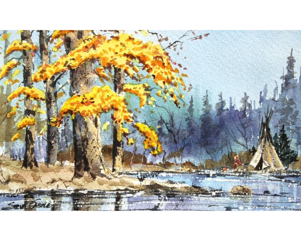 Teepee6x10with8x10borderT... | The Watercolors of Steve ...