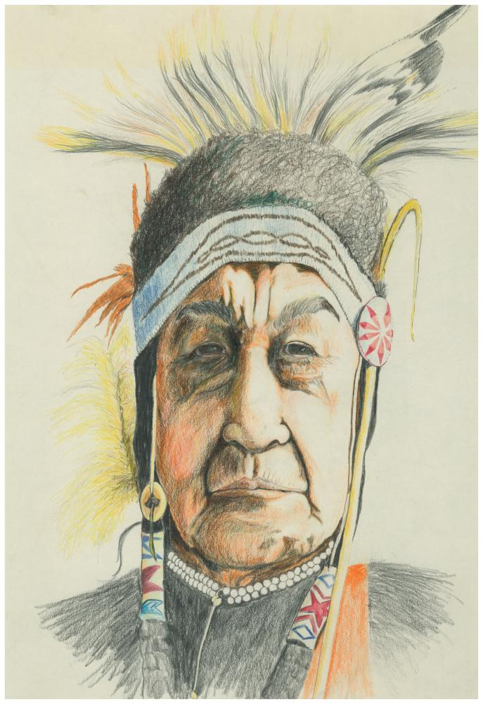Old Native American Warri... | Drawings of People and Pl...