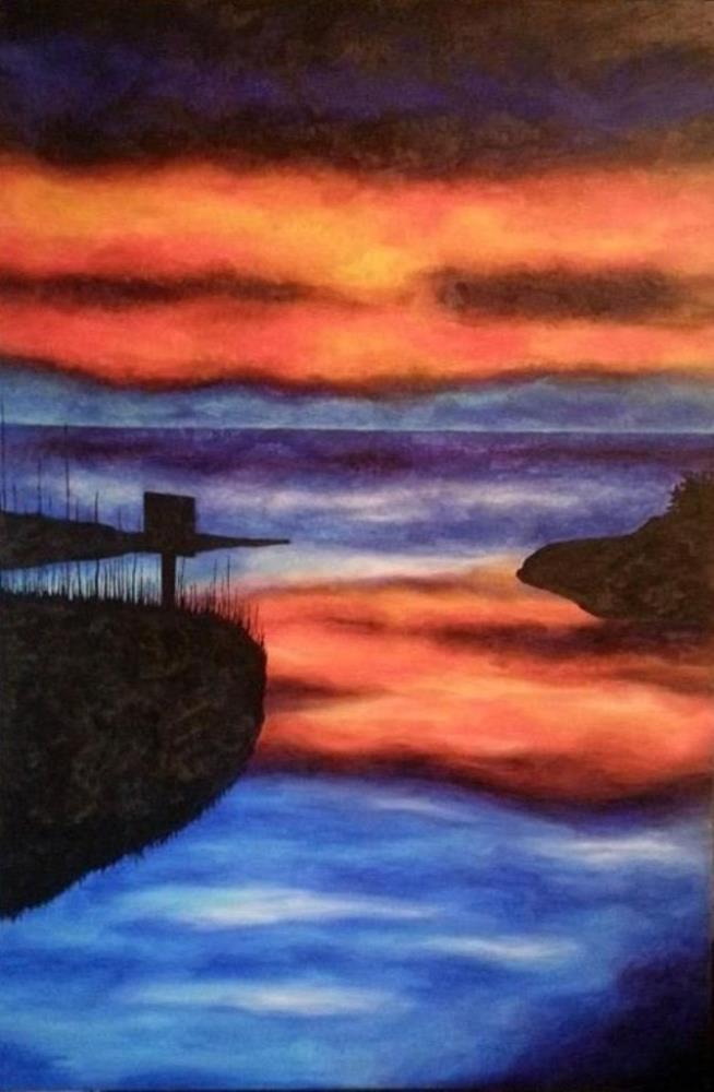 Sunset on the Pamlico Sou...   JStone Fine Arts Gallery