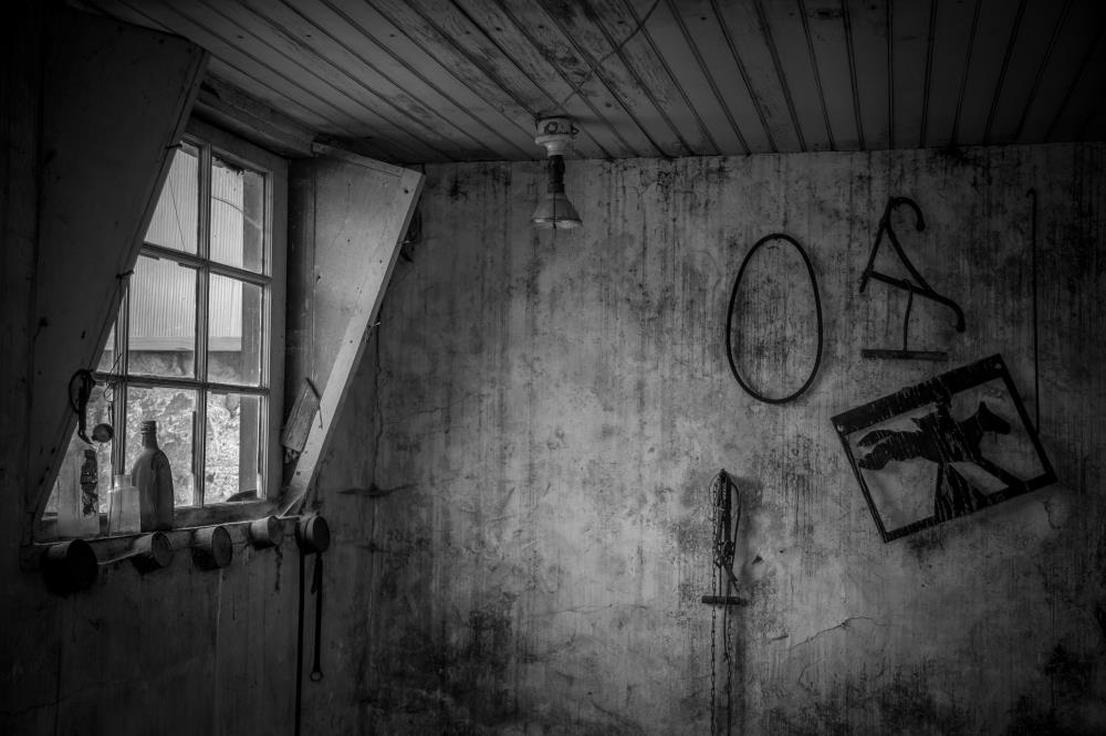 Barn Window (B&W) | Of Spirit and Soul
