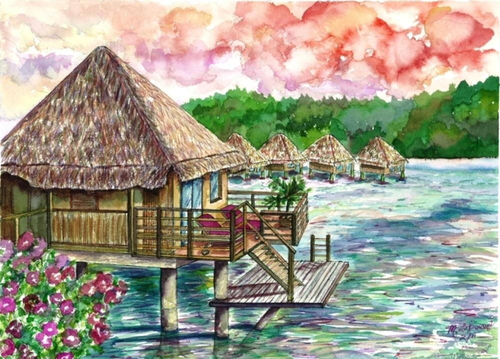 Bora Bora Retreat | Watercolours