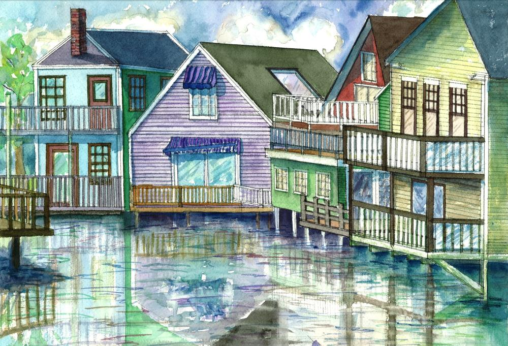 Kennebunkport, Maine | Watercolours