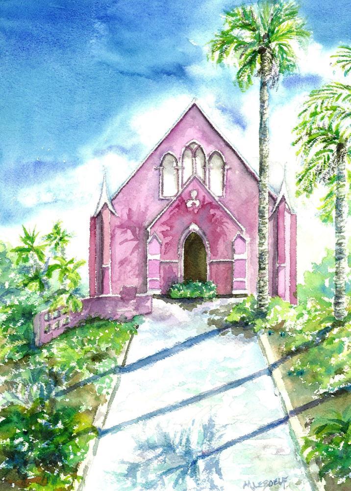 Caribbean Church | Watercolours