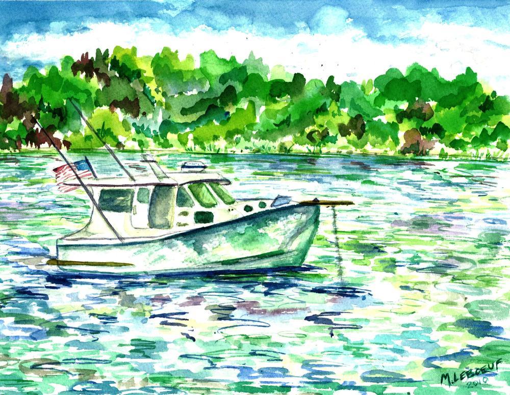 Boat in Kettle Cove, Cape... | Watercolours