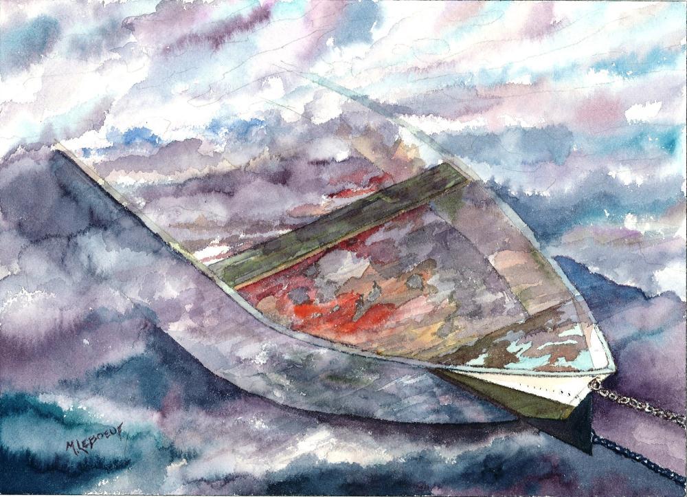 Sunken Dinghy | Watercolours