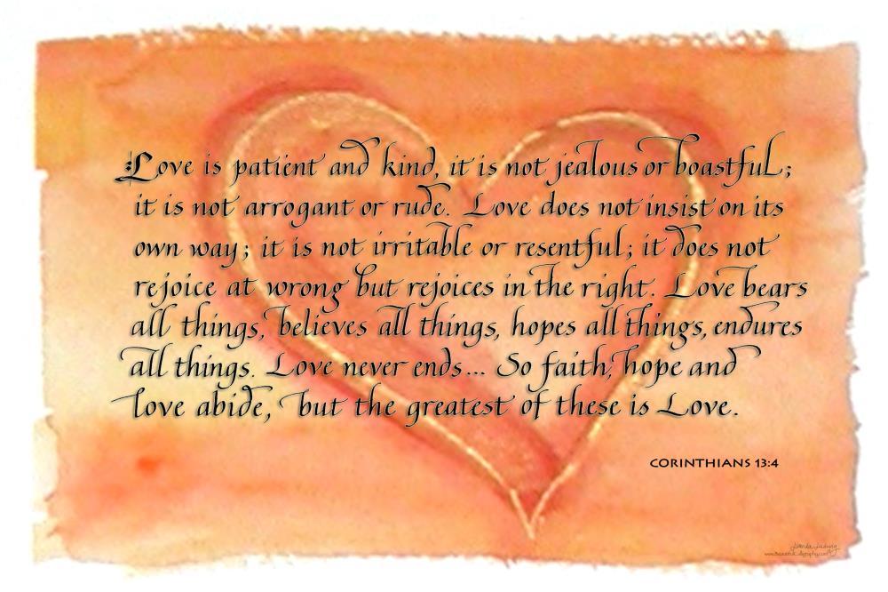Heart-Corinthians-Love is... | Beautiful Calligraphy - f...