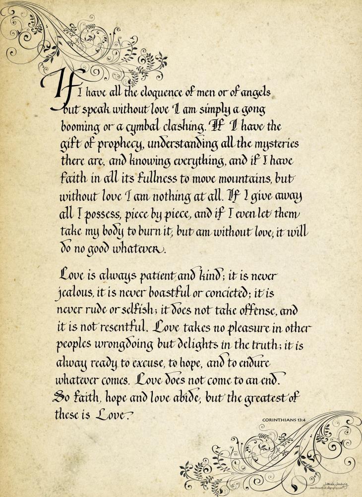Corinthians in Gothic Ca... | Beautiful Calligraphy - f...