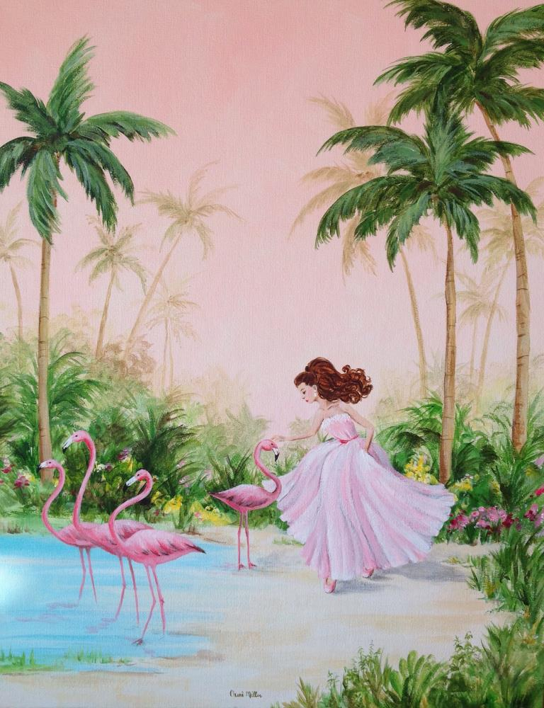 Celeste Was A Flamingo Wh... | Cheri Miller Art