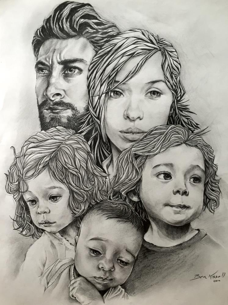 Kissell family portrait 2... | Artworks by Ben L Kissell