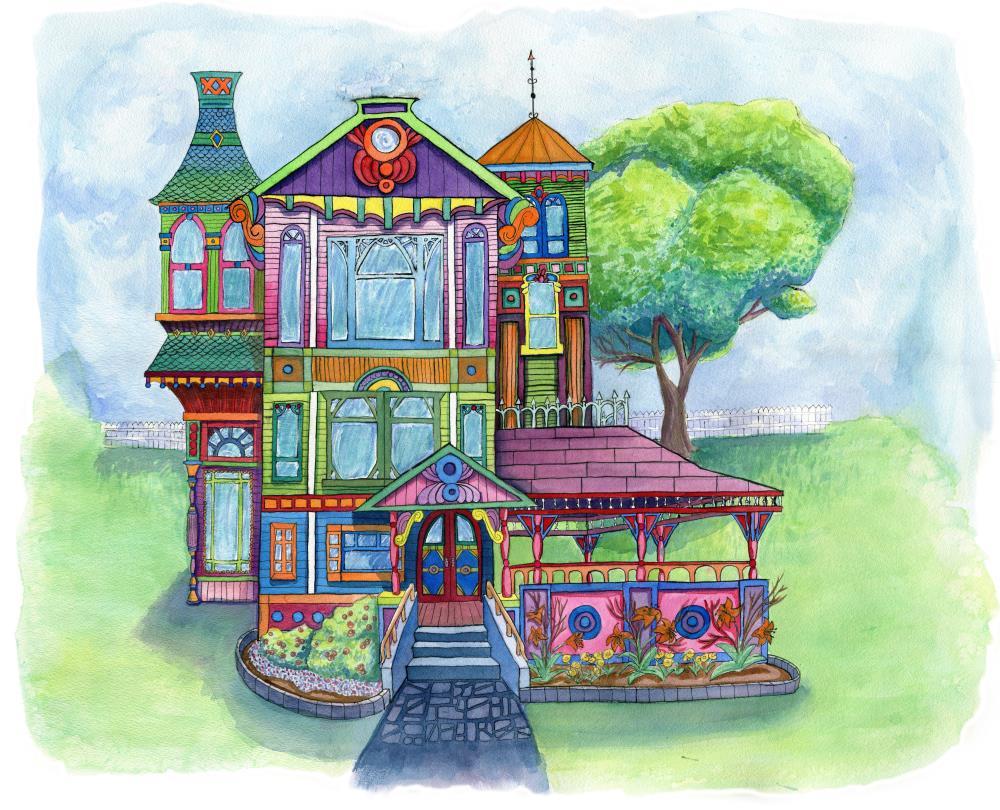 Acid Pop Victorian House |