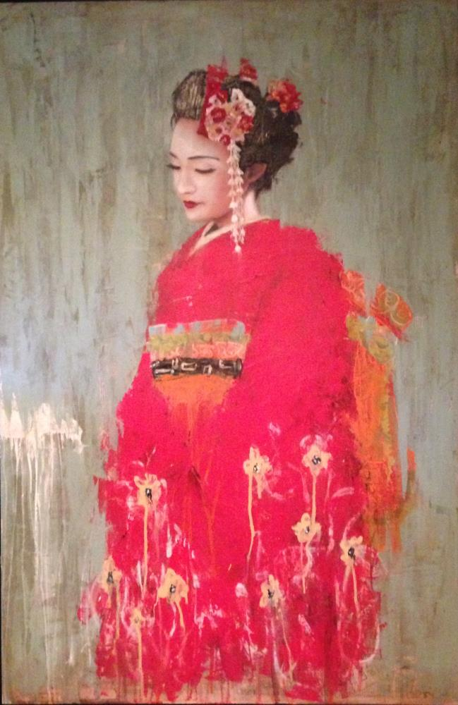 geisha in red |