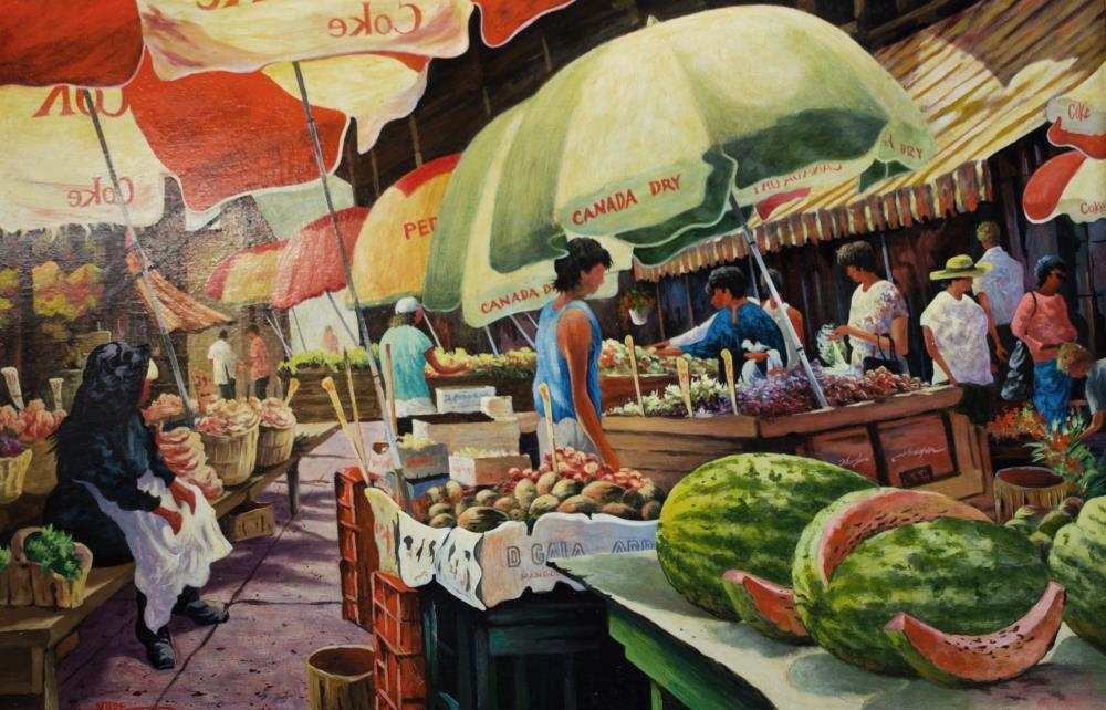 market place | tom's paintings