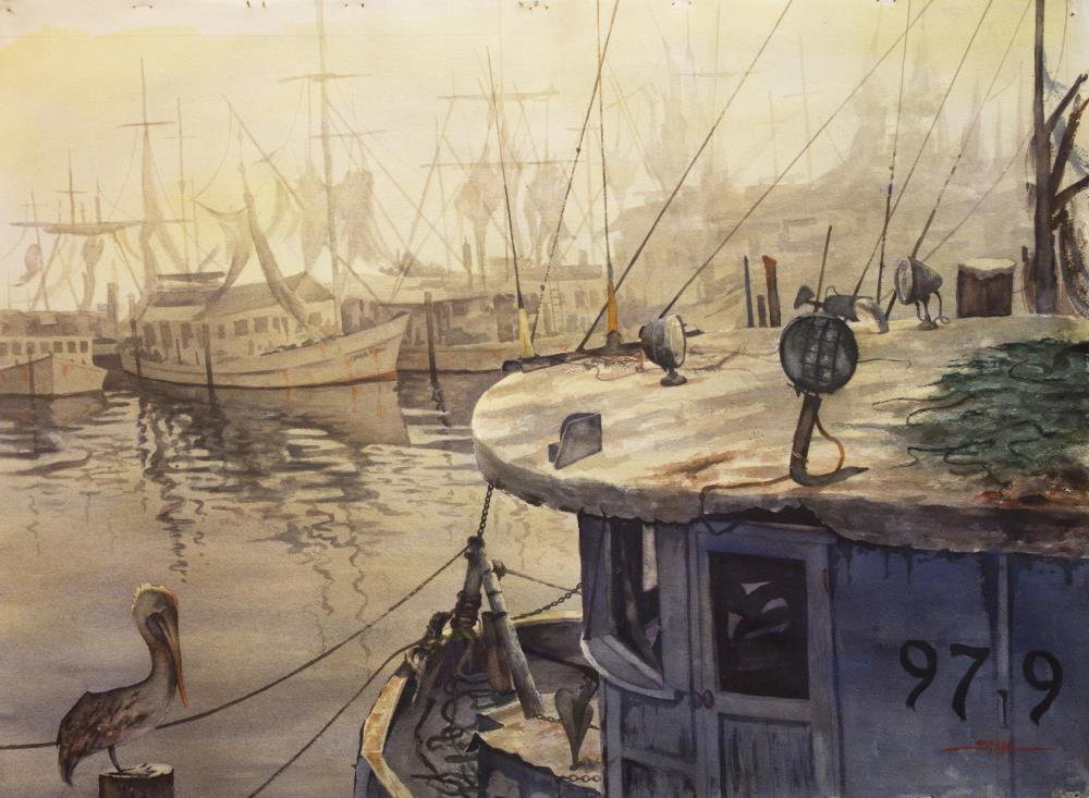 Shrimpers of Gulfport | tom's paintings