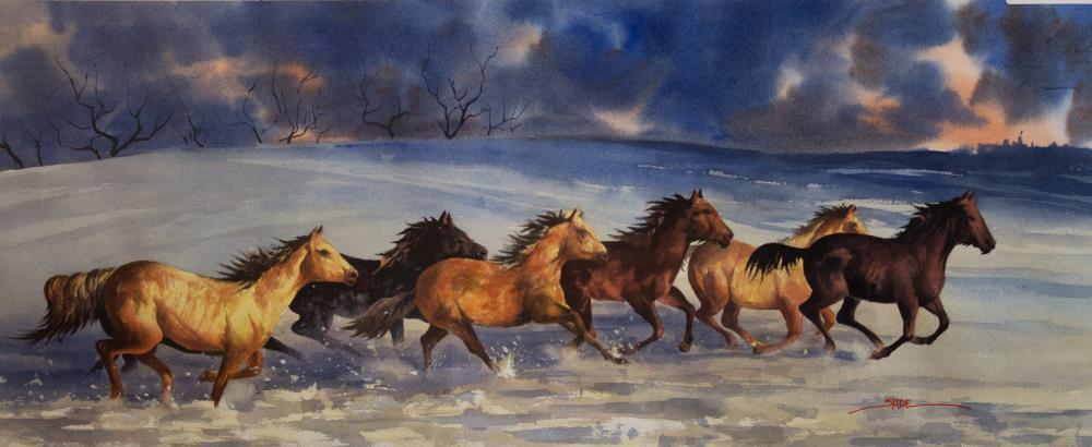 Horses | tom's paintings