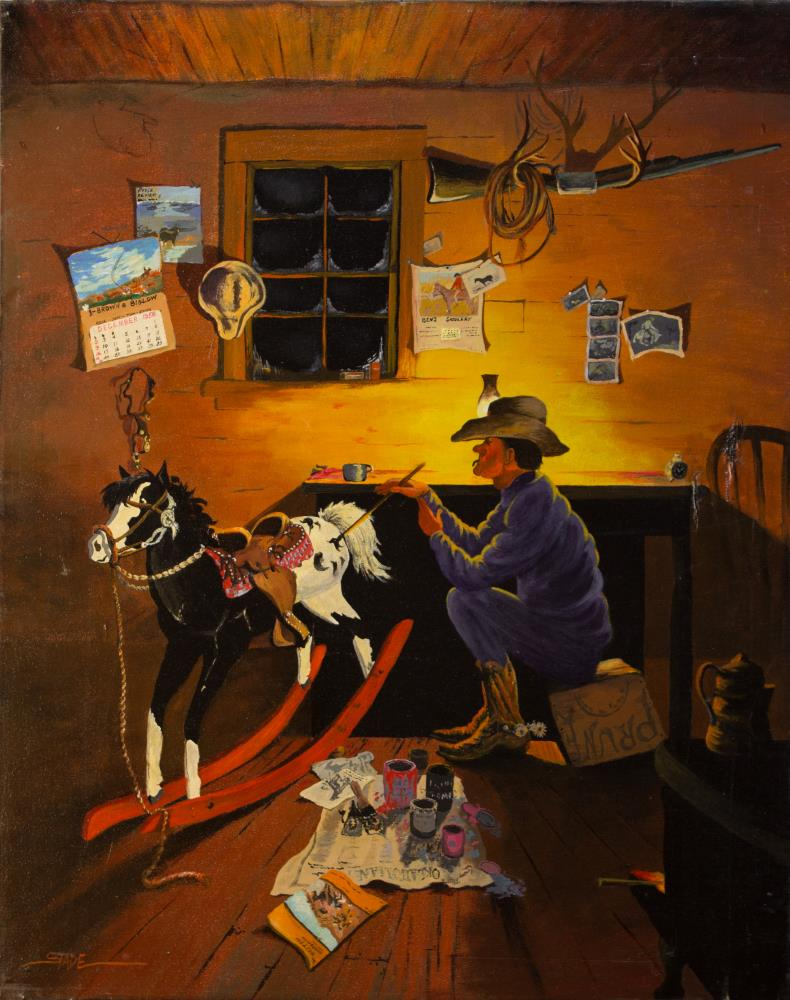 Old Rocking Horse | tom's paintings
