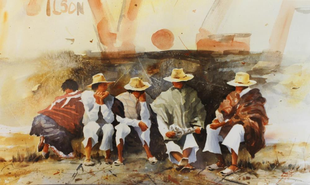 Mexican Men | tom's paintings