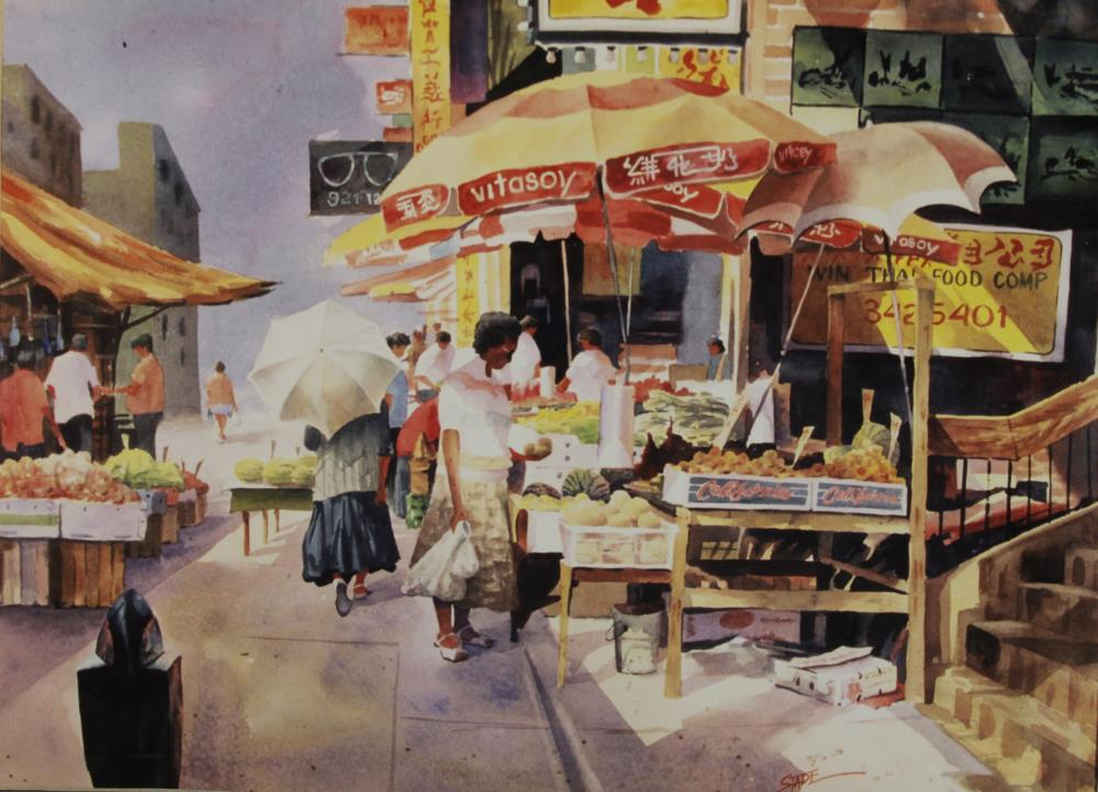 Market Scene | tom's paintings