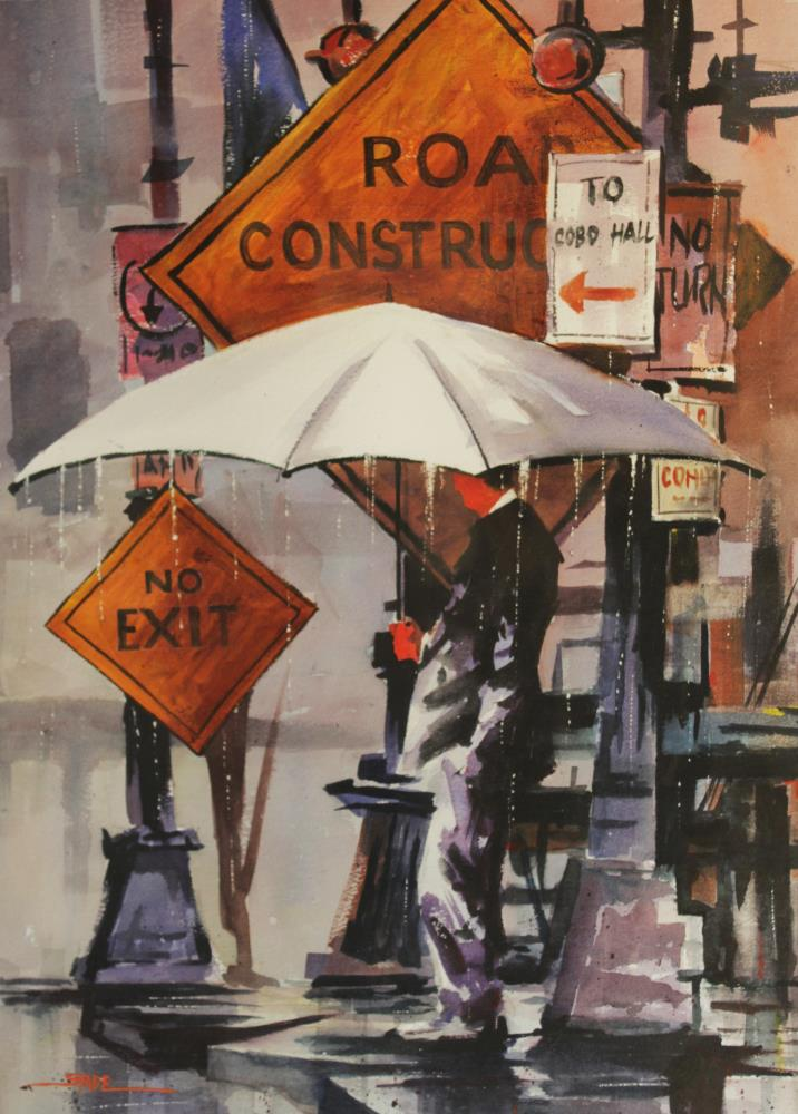 Umbrella Man | tom's paintings