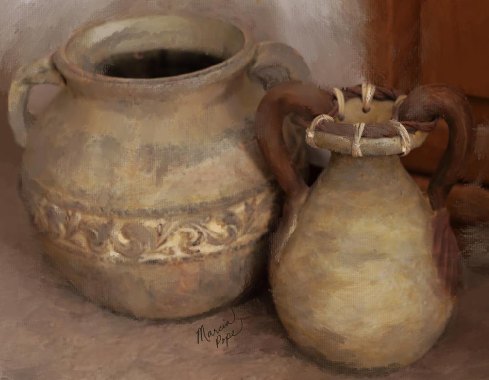 Two Earthen Vessels | Spare Moments Art