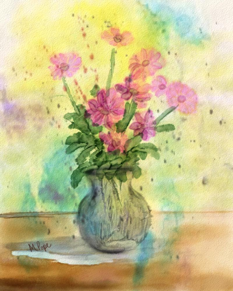 Pink in a Vase | Spare Moments Art