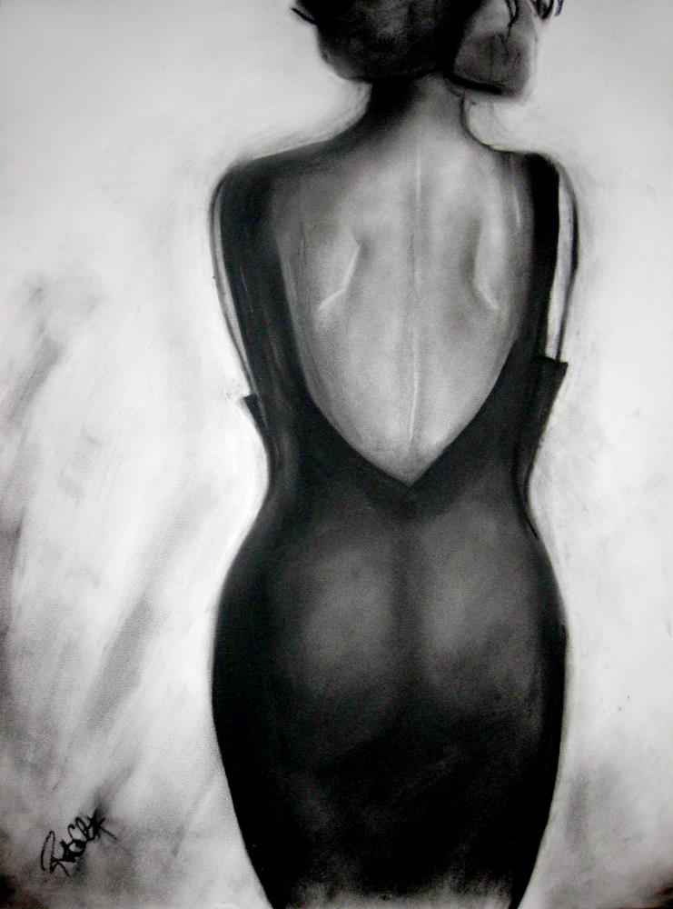 Woman in Black | RChavezArt.com