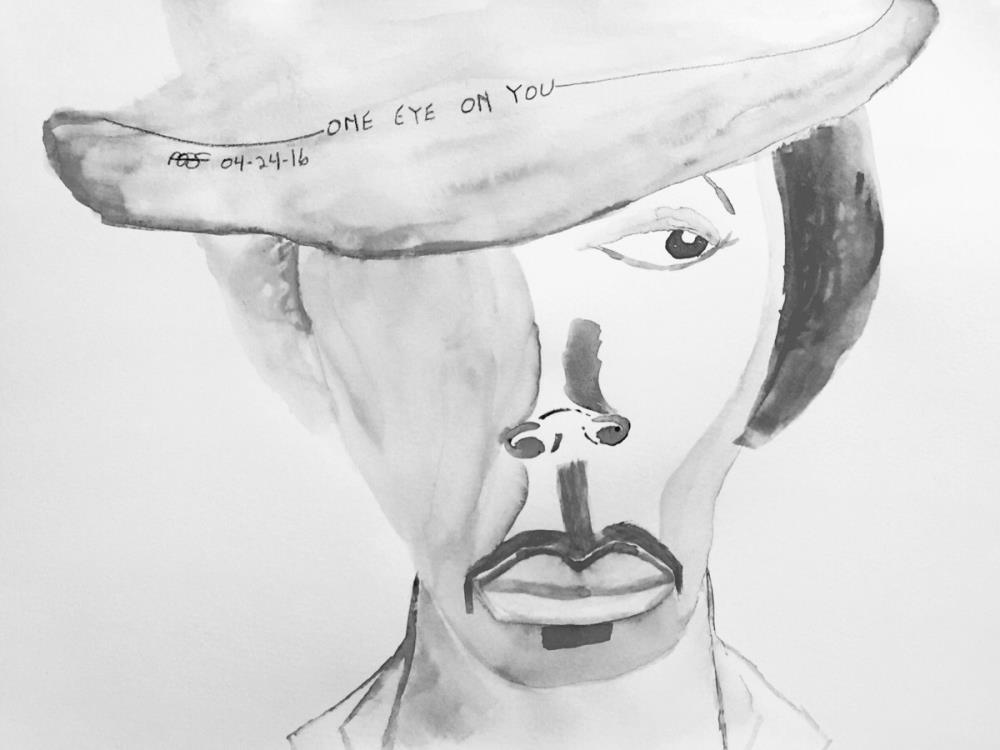 One Eye On You-B&W   Vesseled Fire Art