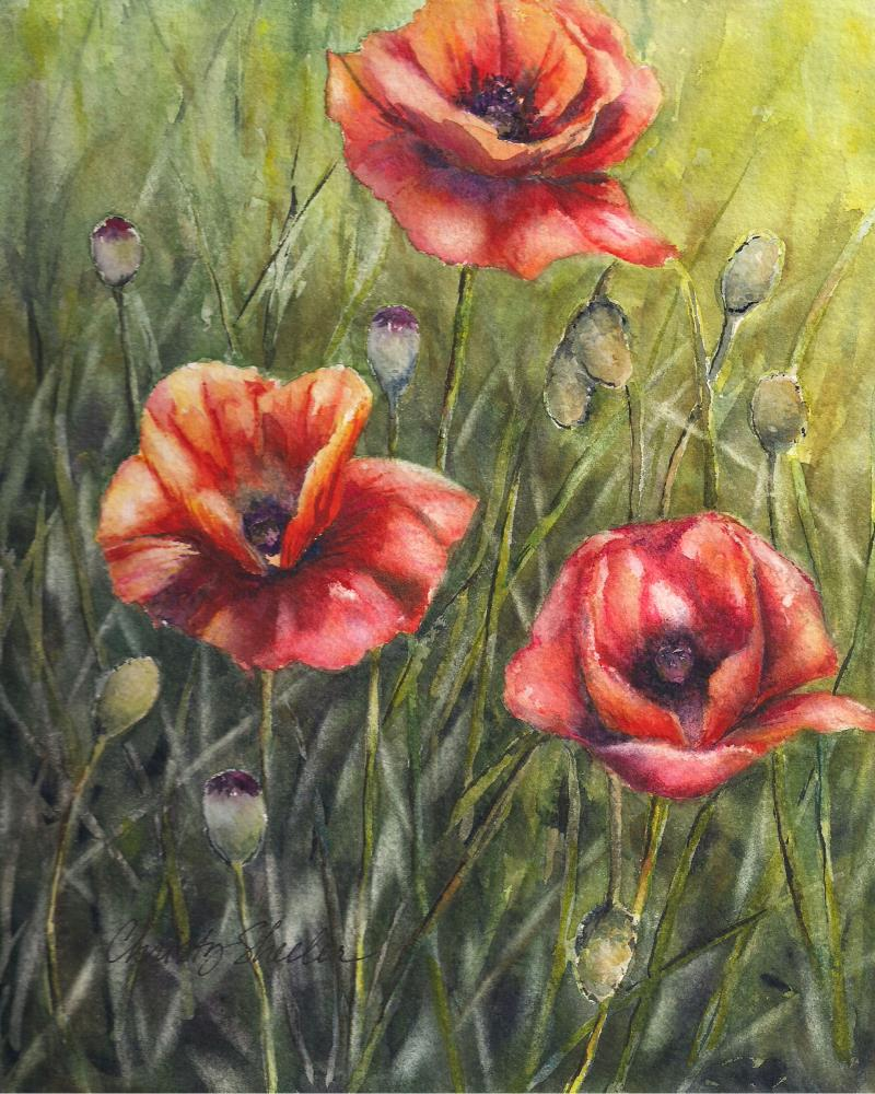 Poppies-StandTall-Waterco... | Christy Sheeler Artist