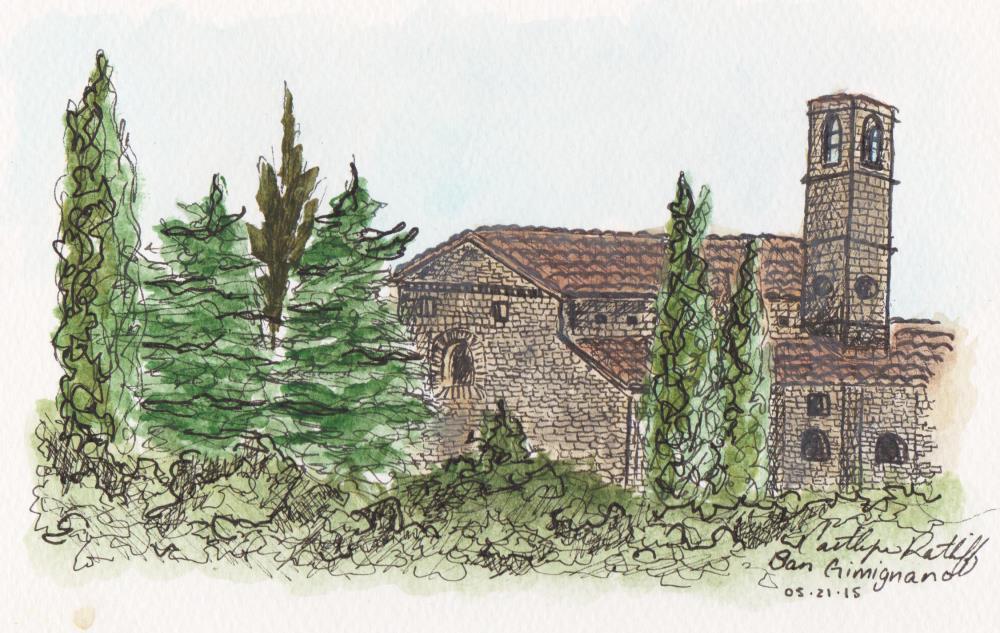 Solitude in San Gimignano | Caitlyn's Creations