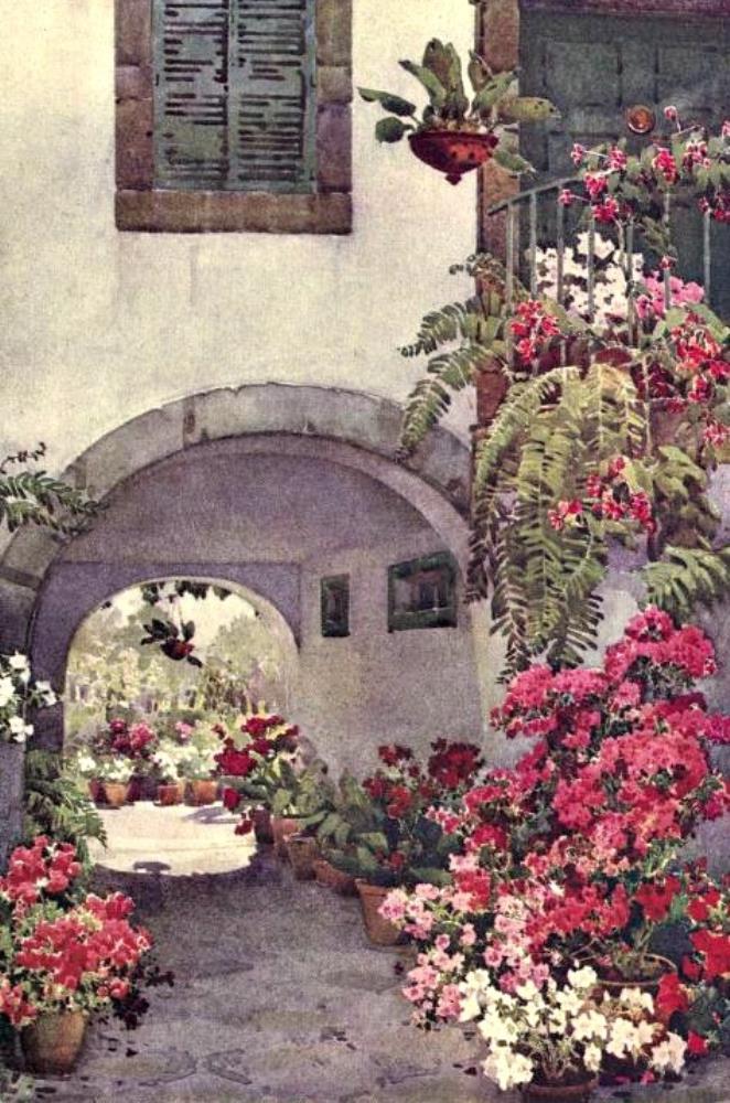 Azaleas in a Portuguese G... | Bella Fine Art Prints