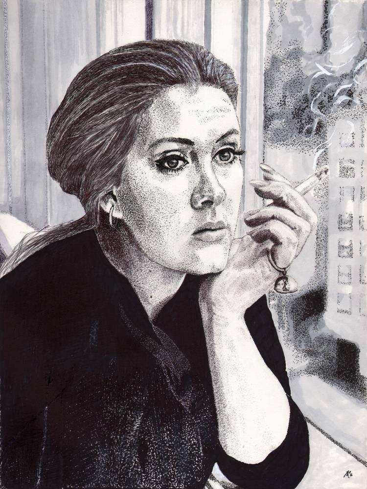 Adele in Ink  by Leecasso | Art by Leecasso