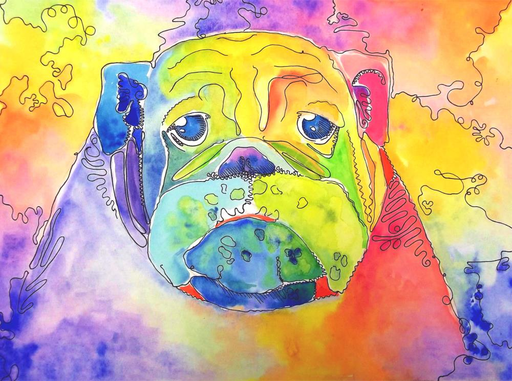 Watercolor Bulldog  | Art Diary