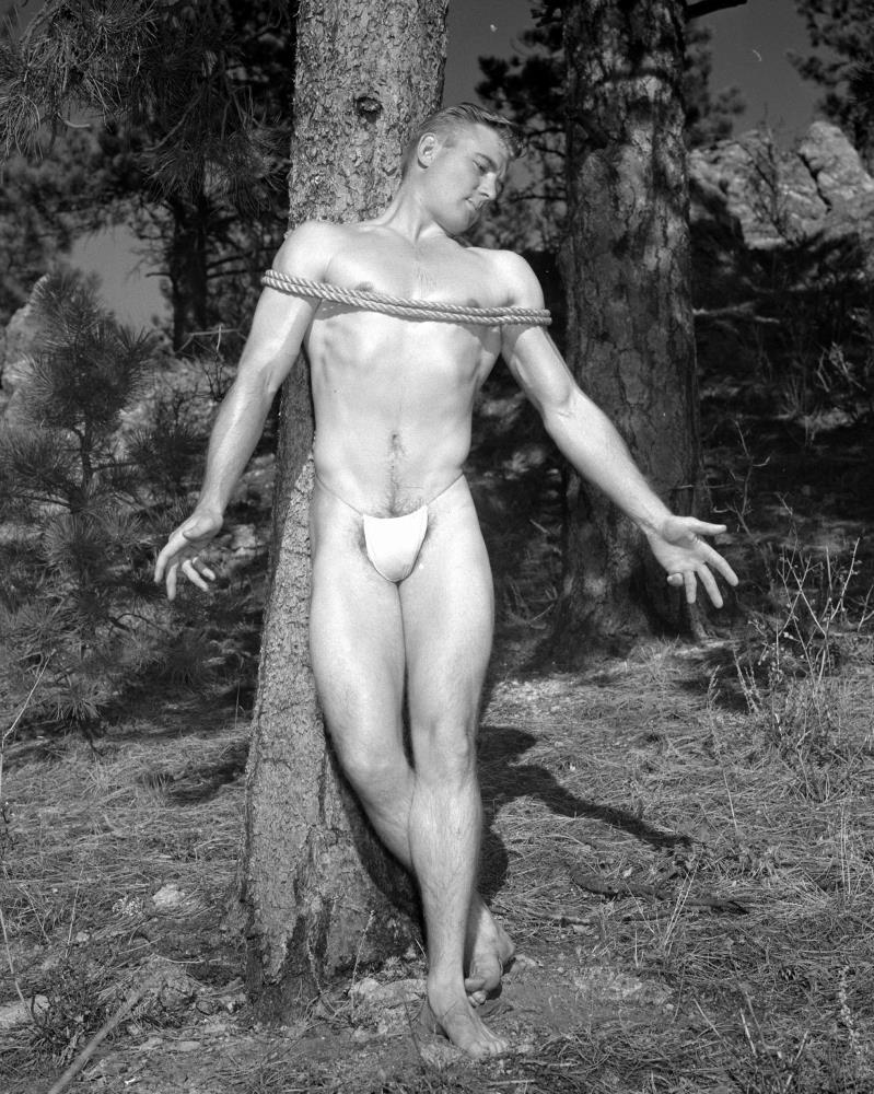 Bound Male Nude Outdoors,... | Western Photography Guild